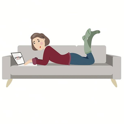 spotdeal illustration sofa