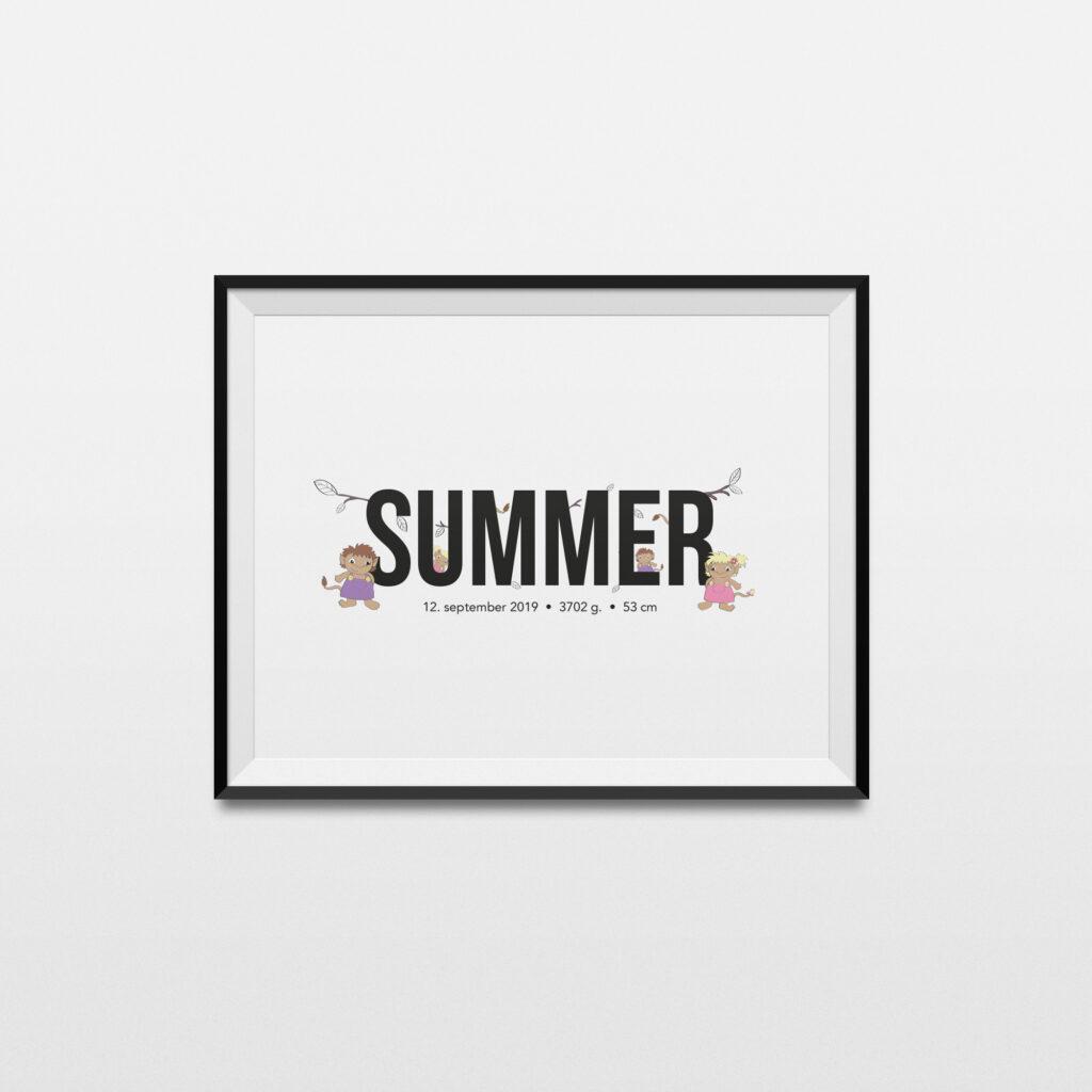 Summer navneplakat